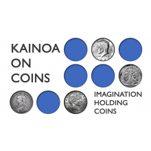 Kainoa on Coins: Imagination Holding Coins von Kainoa Harbottle